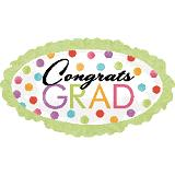 Jumbo Watercolor Dots Grad Balloon