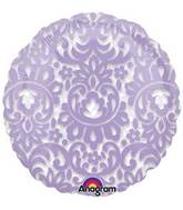 "18"" See Through Lilac Tapestry Balloon"