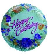 "4"" Airfill Happy Birthday Kamiko Floral Balloon"