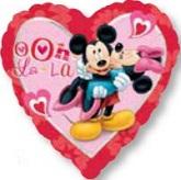 """18"""" Minnie & Mickey Mouse Heart Balloon"""