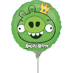 """9"""" Airfill Only Angry Birds King Pig Balloon"""
