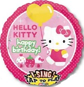 "28"" Sing-A-Tune Hello Kitty Happy Birthday"
