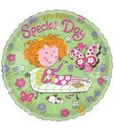 """18"""" Pampered Princess Special Day Balloon with Flitters"""
