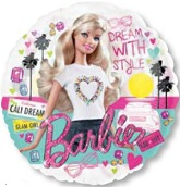 "26"" Barbie See-Thru Balloon Packaged"