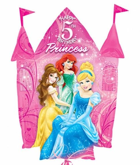 "35"" Disney Princesses 5th Birthday Castle"