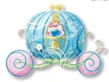 """33"""" Cinderella Carriage Shape Balloon"""