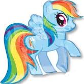 """28"""" My Little Pony Rainbow Dash Balloon"""