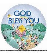 """4"""" Airfill God Bless You Rainbow"""