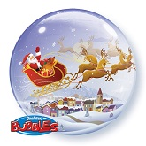 "22"" A Visit From St. Nick Bubble Balloon"
