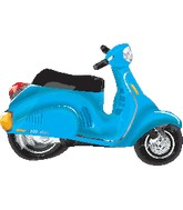 Blue Scooter Balloon