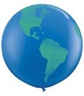 "36"" Globe World Planet Earth Latex Balloon"