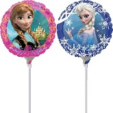 "9""  Airfill Only Anna and Elsa Frozen Balloon"