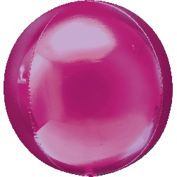 """16"""" Bright Pink Orbz Balloon"""