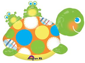 """29"""" Turtle & Frogs  UltraShape Balloon"""