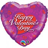 "18"" Valentine's Dainty Hearts Balloon"