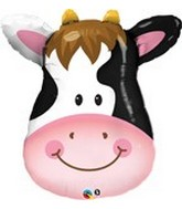 "32"" Contented Mylar Cow Balloon"