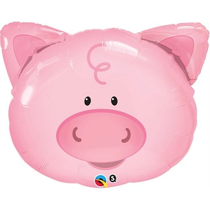 "30"" Playful Pig Jumbo Mylar Balloon"