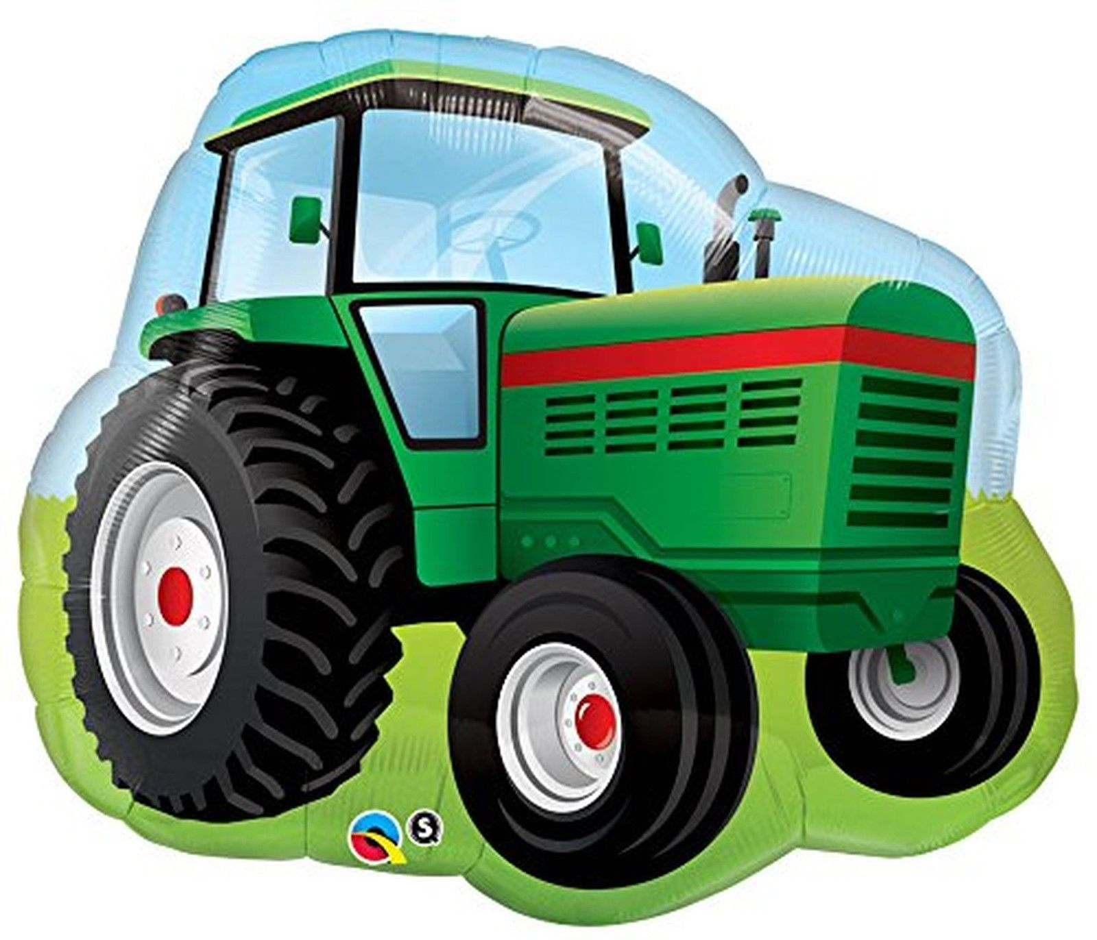 "34"" Farm Tractor Jumbo Packaged Mylar Balloon"