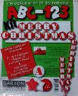"""18"""" ABC-123 Kit """"Merry Christmas"""" Red/White"""