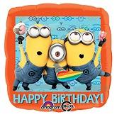 "18"" Despicable Me Happy Birthday  Balloon"