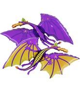 "36"" Purple Dragon Balloon"