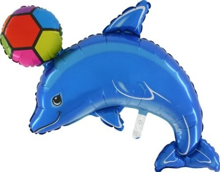 """45"""" Dolphin Blue With Ball"""