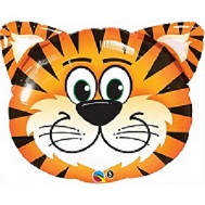 "30"" Tickled Tiger Jumbo Mylar Balloon"