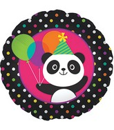 "18"" Panda-Monium Foil Balloon Packaged"