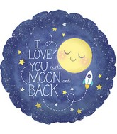"18"" I Love You to The Moon and Back Packaged"