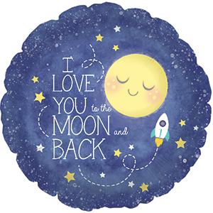 """18"""" I Love You to The Moon and Back Packaged"""