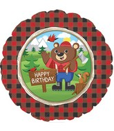 "18"" Happy Birthday Lum-Bear Jack Balloon Packaged"