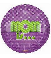 """18"""" Mom Is… Lime and Purple Balloon"""
