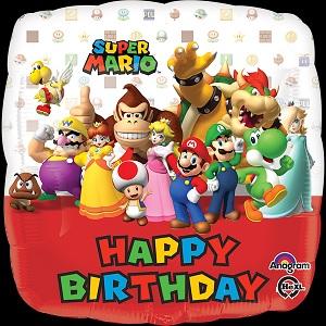 """18"""" Happy Birthday Mario Bros"""