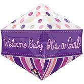 """21"""" Ultrashape Anglez Welcome Baby Girl Balloon"""