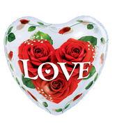 "22"" Love Roses Plastic Bubble Balloons"