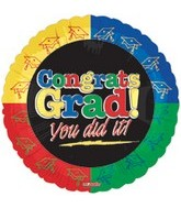"""9"""" Airfill Congrats Grad You Did It"""