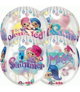 """16"""" Packaged Orbz Shimmer and Shine Balloon (Floats)"""