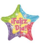 """4"""" Airfill Feliz Dia Estrellas Balloon"""