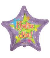 """4"""" Airfill Feliz Dia Purple Balloon"""