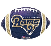 Junior Shape Los Angeles Rams  Team Colors Balloon
