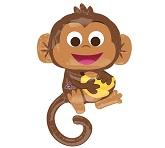 """36"""" Happy Monkey Balloon with Banana"""