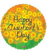 """18"""" Happy Assistant's Day Balloon Flowers"""