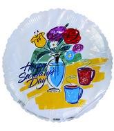 "18"" Happy Secretary Day Flower Vase & Coffe Mugs"