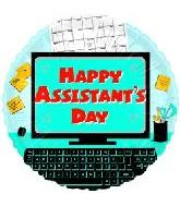 """18"""" Happy Assistants Day Desk"""