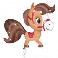 Playful Brown Horse Jumbo Balloon