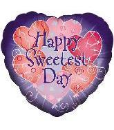 """18"""" Sweetest Day Pink Hearts/Purple Script"""