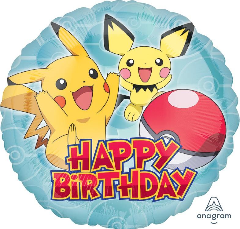 "18"" Pokémon Happy Birthday"