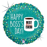 "18"" Holographic Balloon Boss's Day Coffee Mug"