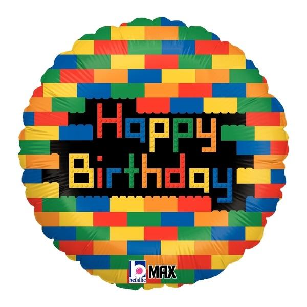 """18"""" Birthday Blocks Balloon"""