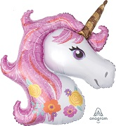 "33"" Jumbo Mylar Magical Unicorn Balloon"